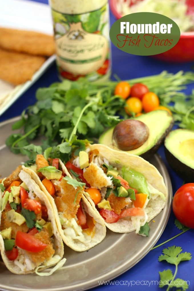 Flounder fish tacos recipe eazy peazy mealz for Fish for fish tacos