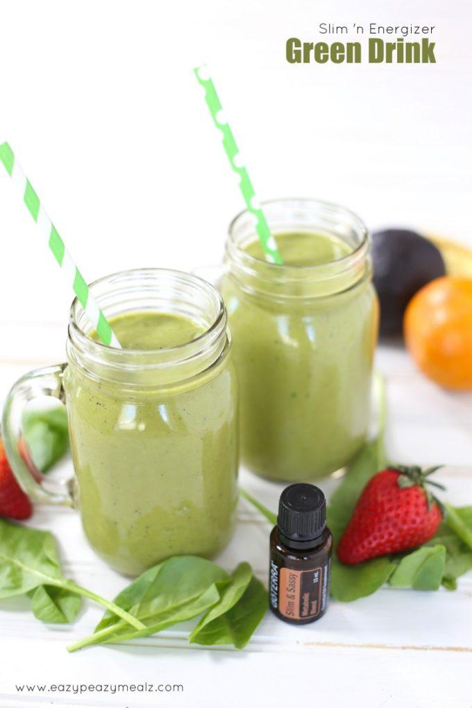 Slim n energize green drink smoothie