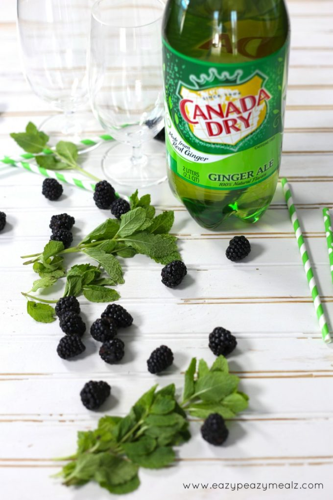 blackberry mint gingerale