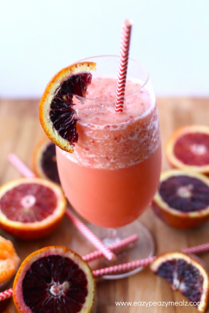 blood orange punch glass
