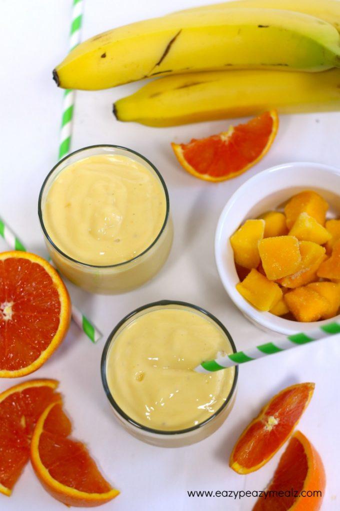 orange dream protein packed smoothie