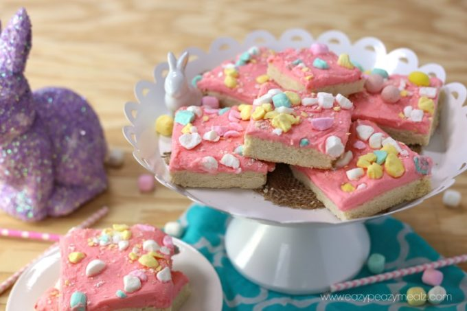 sugar cookie bars, soft, chewy, easy to make