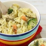 Pesto pasta salad with chicken