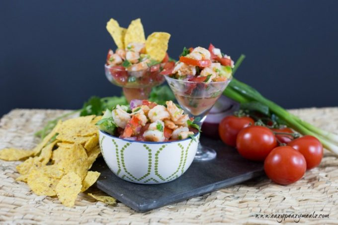 Shrimp ceviche, the perfect blend of fresh flavors, makes for a great snack or meal