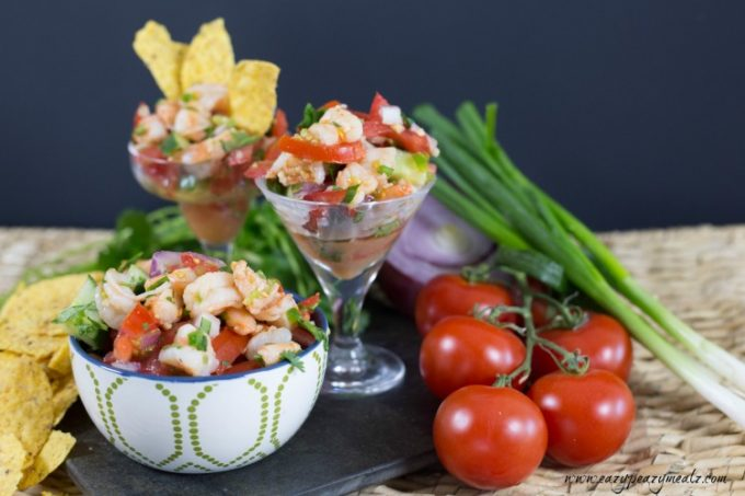 Shrimp ceviche, the perfect snack or meal