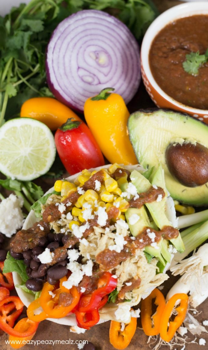 burrito bowl with salsa dressing