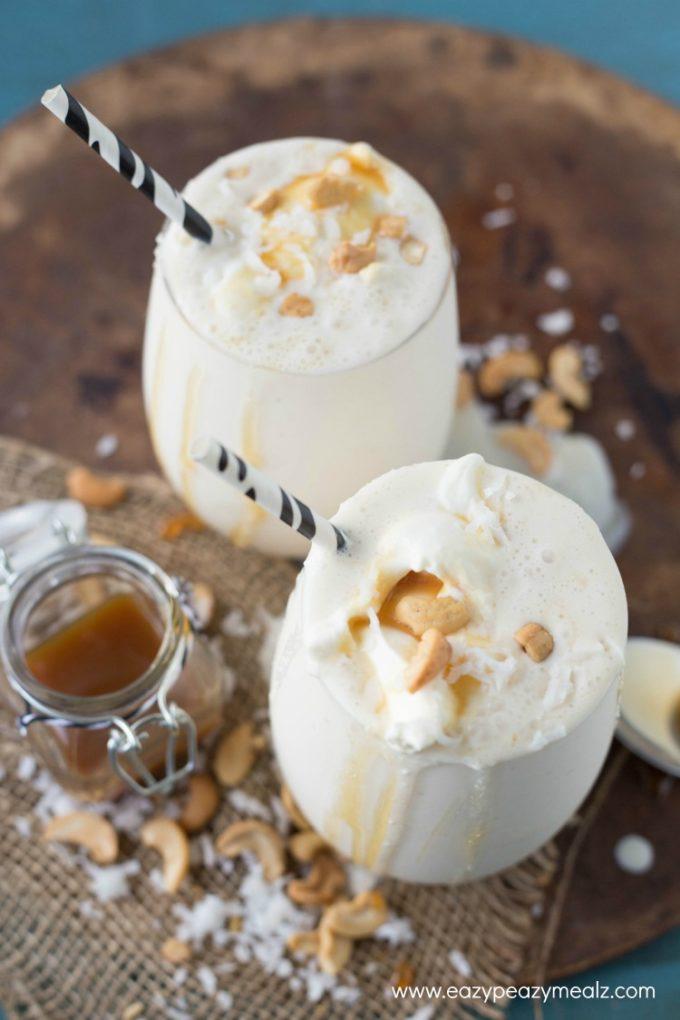 caramel cashew coconut smoothie 3