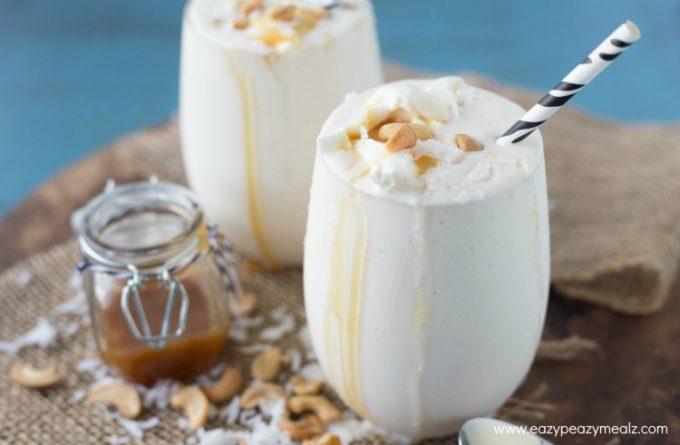 caramel cashew coconut smoothie 4