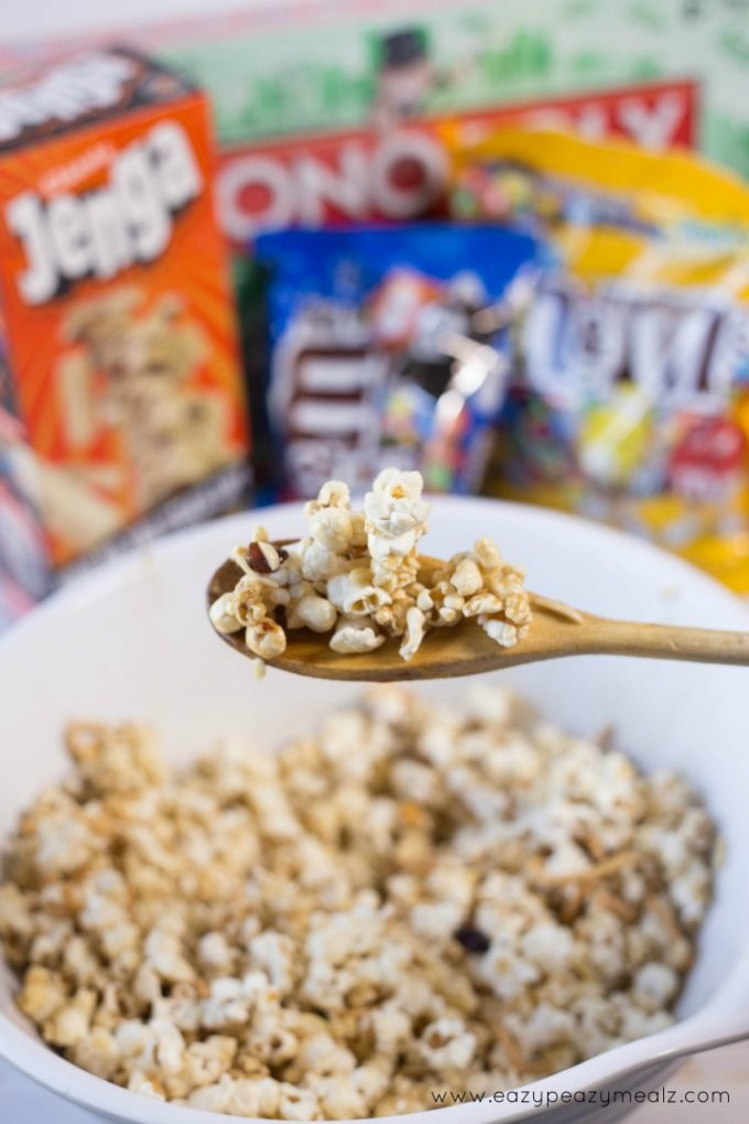 carmael popcorn mix for game night