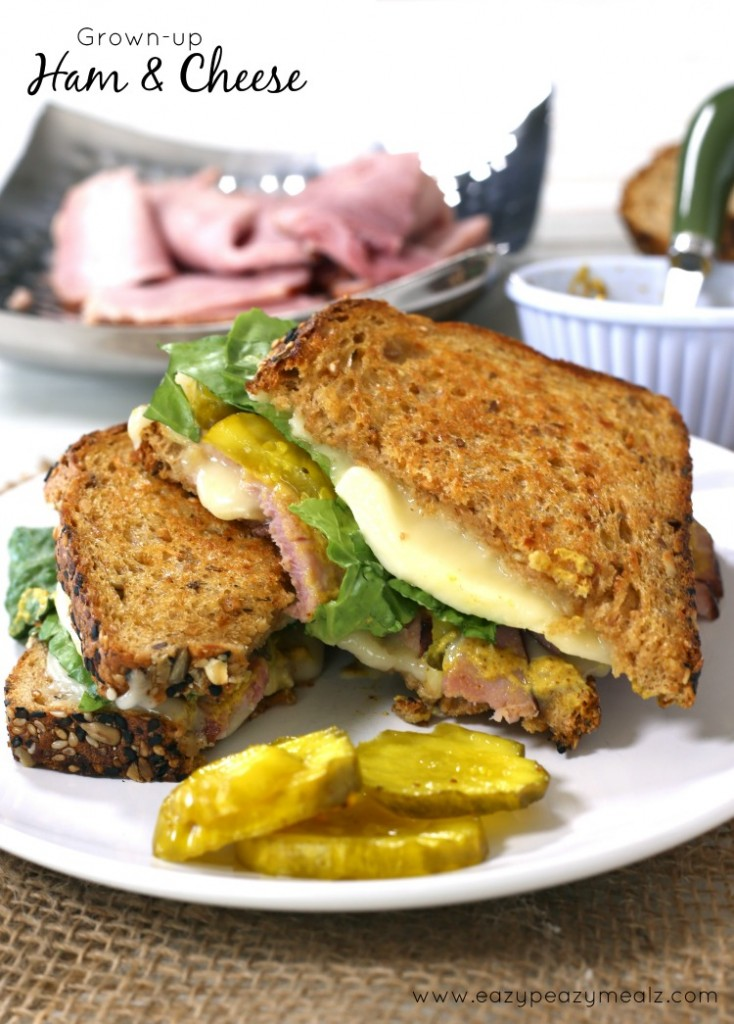 grown up ham and cheese sandwich
