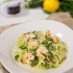 hero zoodle shrimp scampi