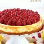 lemon raspberry cheesecake hero image