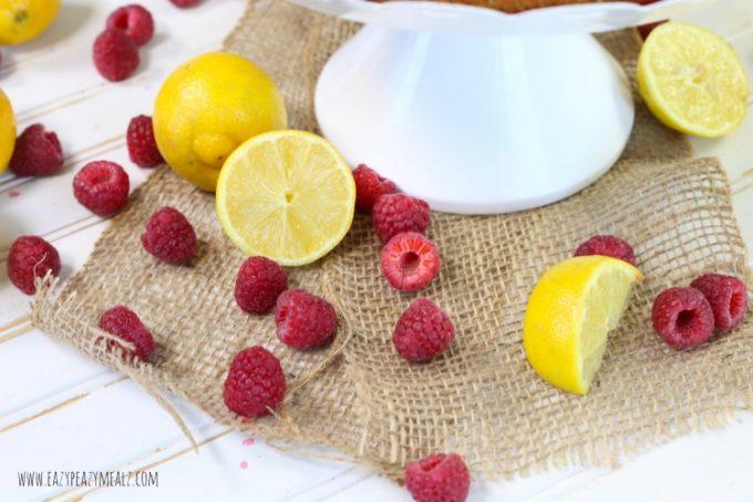 lemons and raspberries