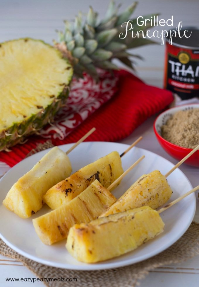 Grilled Pineapple With Coconut-Condensed Milk-Butter Sauce ...