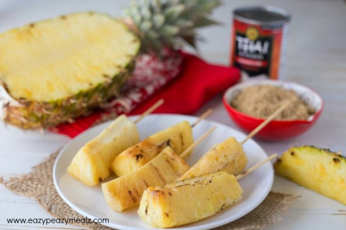 grilled pineapple skewers, the perfect sweet side to summer BBQ's