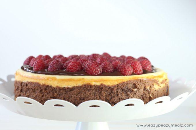 raspberries in chocolate ganache