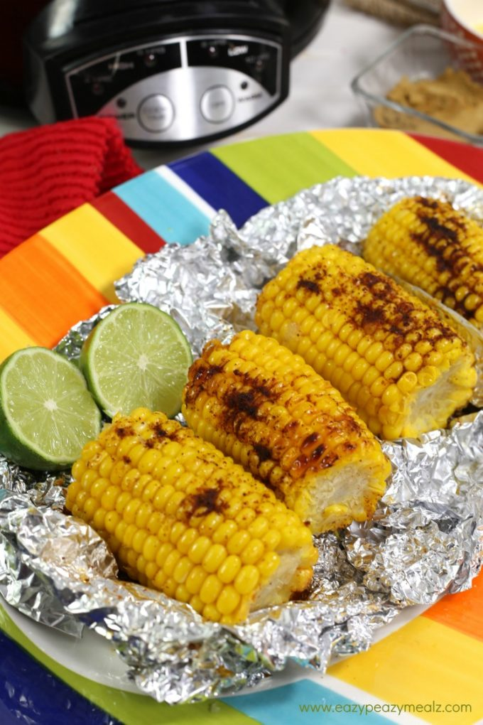 slow cooker corn, mexican street corn, an easy side for dinner