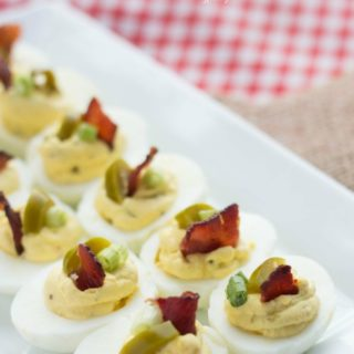 Bacon jalapeno deviled eggs are a great low carb or keto friendly snack