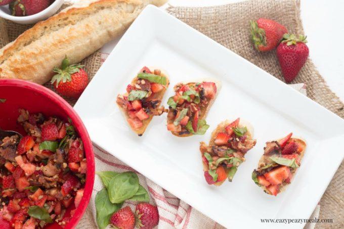 Strawberry basil crostini 3