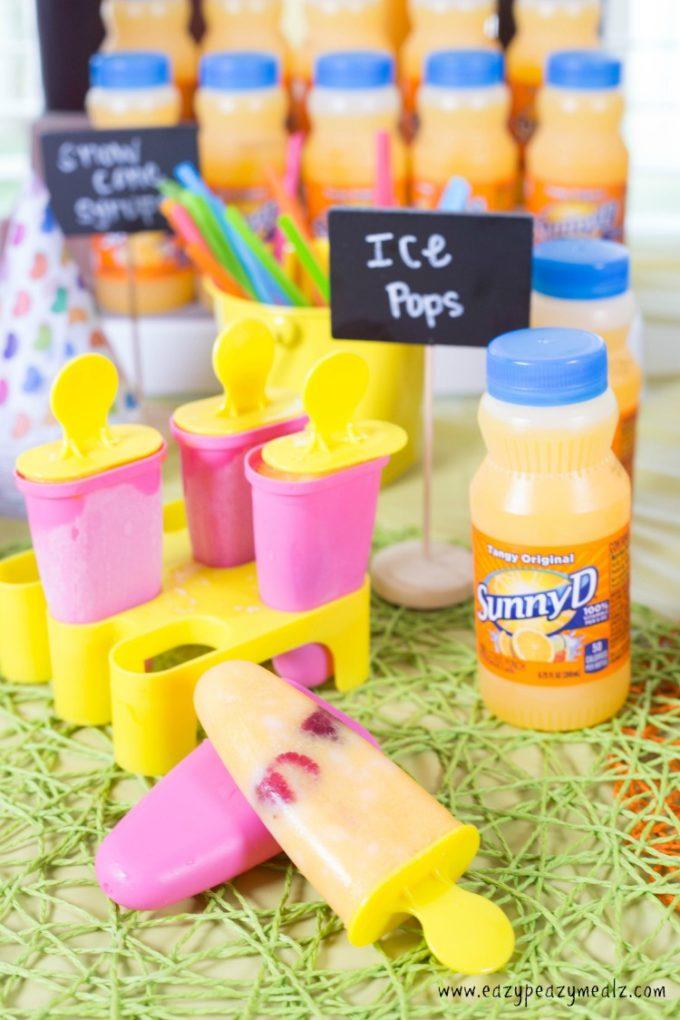 Orange Creamsicle No-Churn Ice Cream + SunnyD party ...