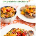 Sweet and Sour grilled pork chops with salsa hero image