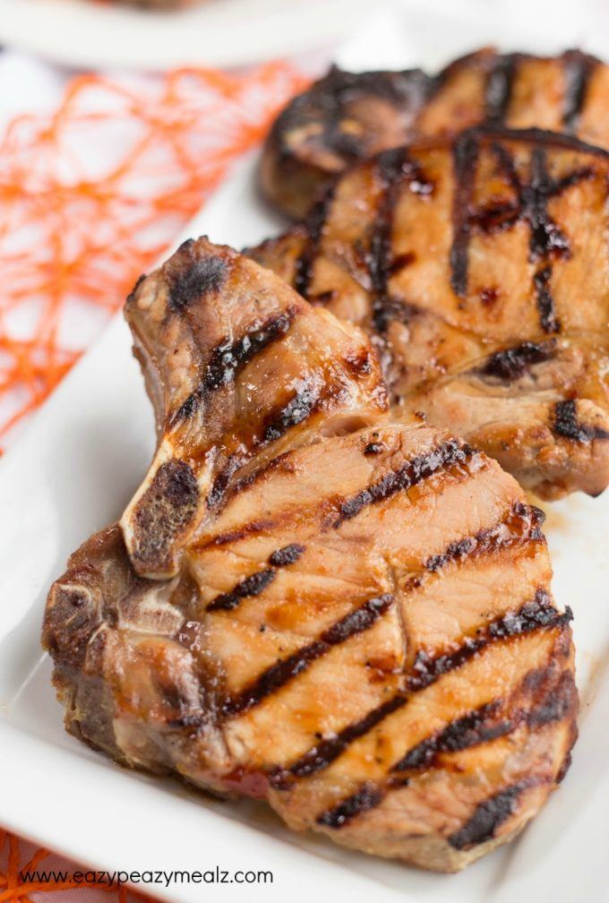 Sweet and Sour Grilled Pork Chops with Grilled Tropical Fruit Salsa ...