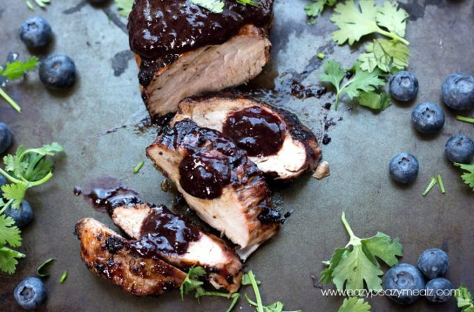 Pork tenderloin blueberries recipe