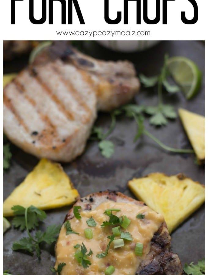 Pina Colada Pork Chops