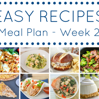 Easy Recipe Meal Plan: Week 2
