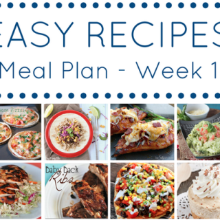 Easy Recipes Meal Plan- Week 1