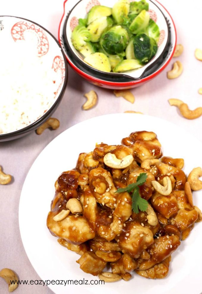 Easy, delicious, and family friendly cashew chicken