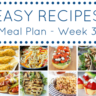 Easy Recipes Meal Plan Week 3