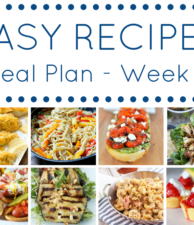 Easy Recipes Meal Plan Week 3
