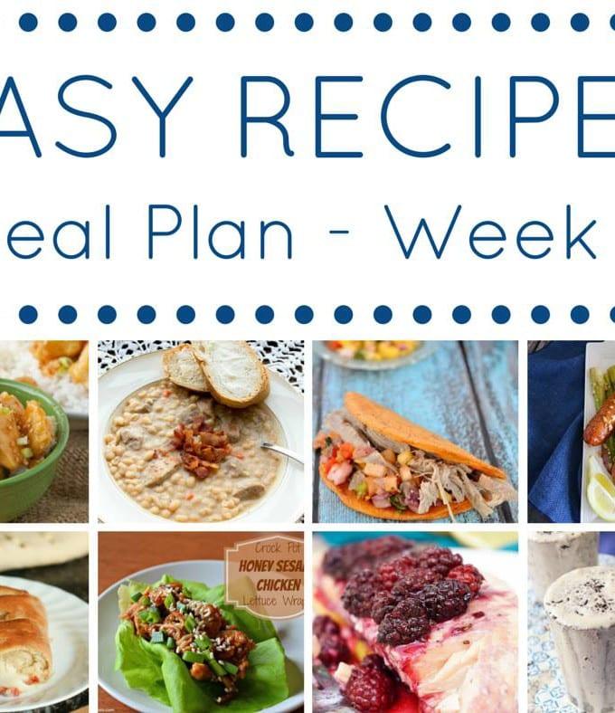 Week 7: Easy Recipes Meal Plan