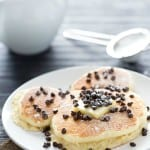 Light, fluffy, and oh so delicious. The best way to make buttery chocolate chip pancakes.