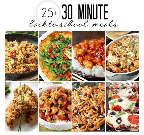 30 minute meals, back to school meals, easy meals
