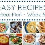 Week 6 meal plan