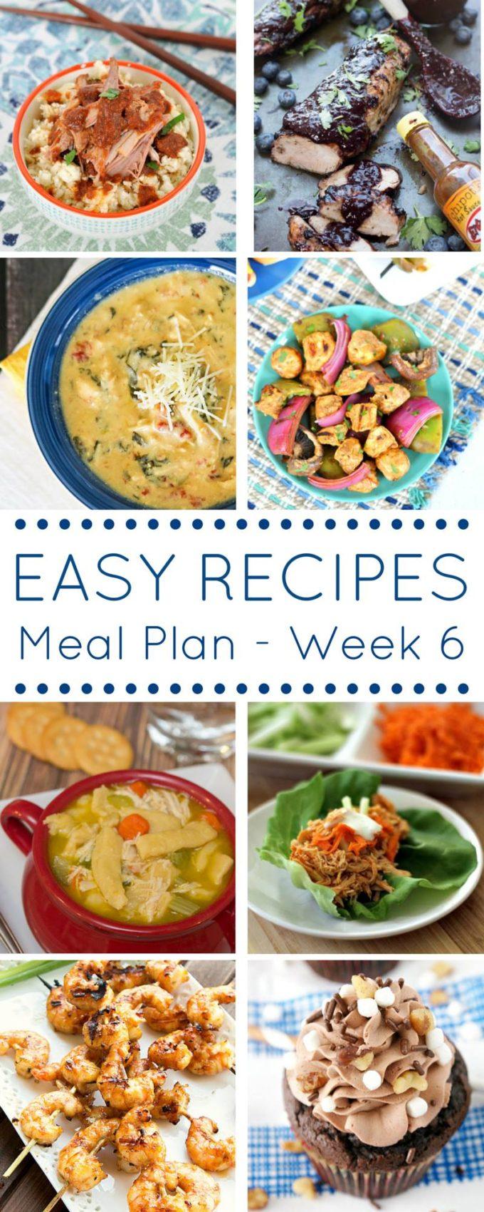 week 6 meal plan pin