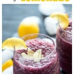 Blueberry coco peach frozen lemonade