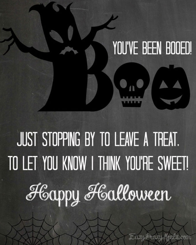Halloween Boo Bark Printable - Eazy Peazy Mealz