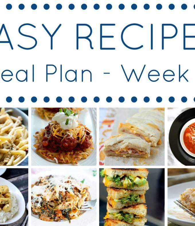 Easy Recipes Weekly Meal Plan #11