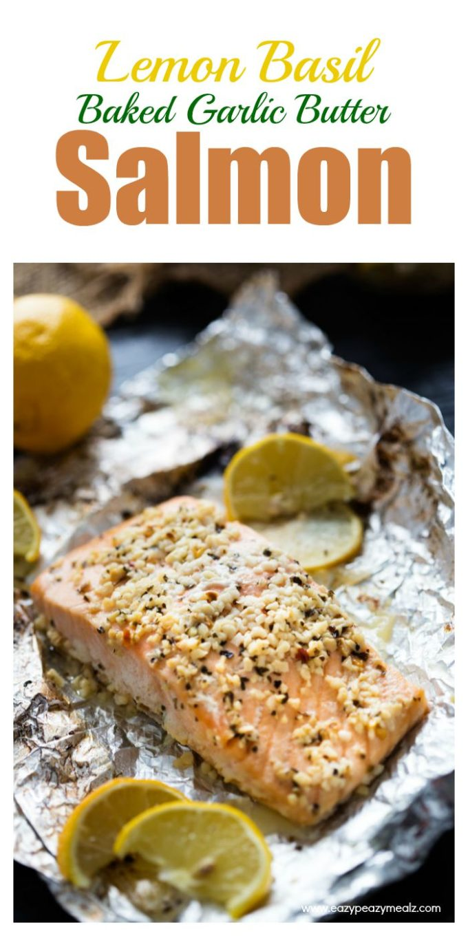 Wild Baked Salmon With Basil Butter Recipe — Dishmaps