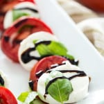 Traditional Caprese makes a great holiday appetizer