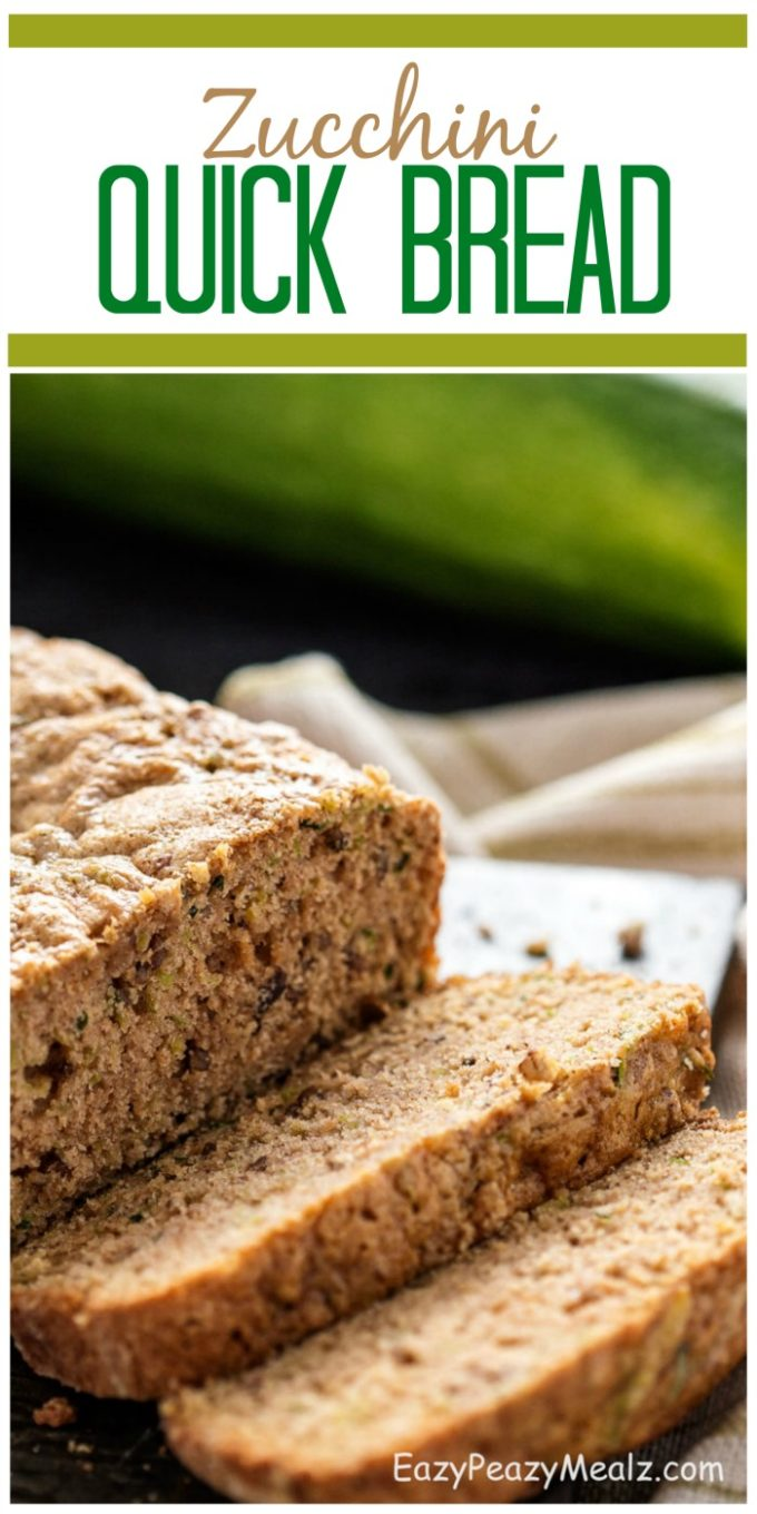 Zucchini quick bread is a tasty way of using your garden harvest