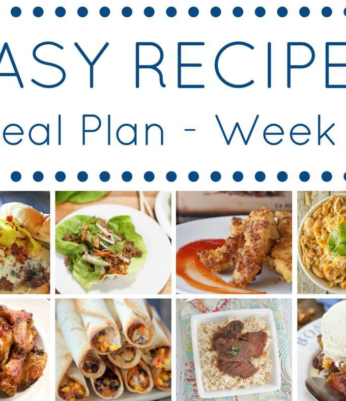 Week 9: Easy Recipe Meal Plan