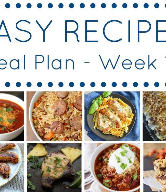 Week 10: Easy Recipe Meal Plan