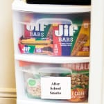 Get rid of the after school snacking dilemma with a snack bin and Jif