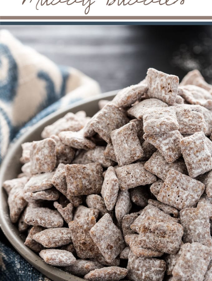 Cookie butter muddy buddies are everything you want in a snack, chocolate, sweet, and delicious, these will disappear at parties.