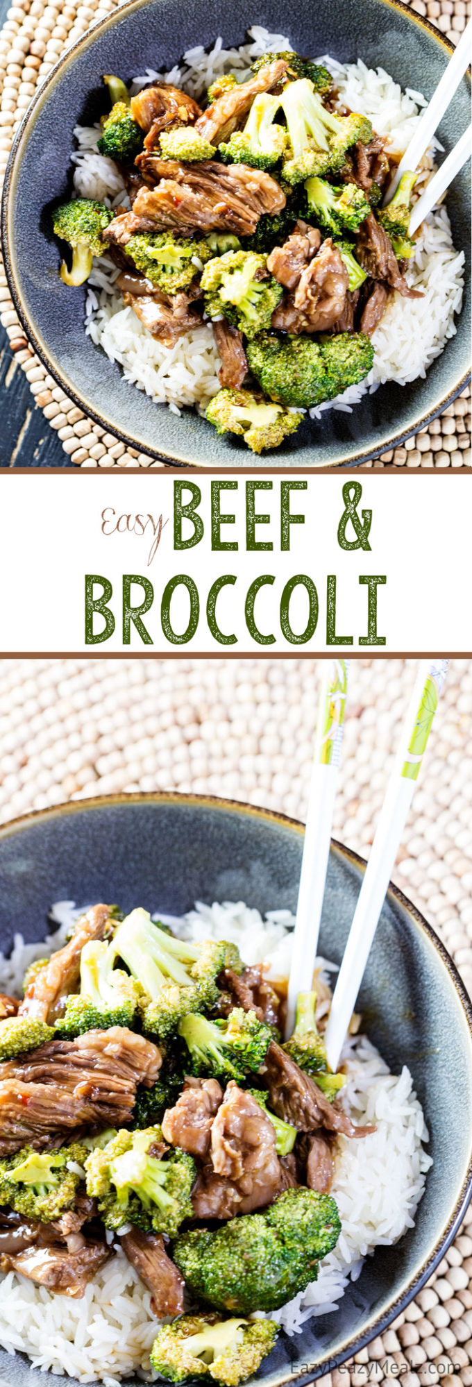 Easy beef and broccoli is a family favorite. It can be made in 20 minutes, and has insane flavor. Yum!