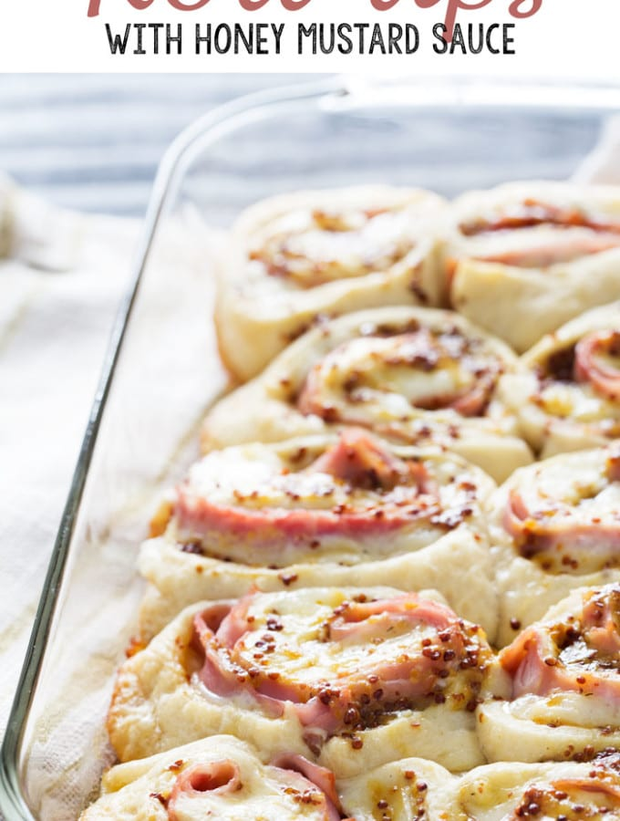 Ham and Havarti Roll-ups with Honey Mustard Sauce